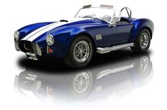 Royal Blue Pearl Metallic 1965 Shelby Superformance Cobra | RK Motors Charlotte | Collector and Classic Cars