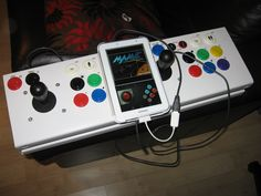 USB Arcade Joystick. demo with MAME on some little Android devices