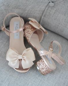 Feel Like Cinderella in Your Sparkly Wedding Shoes Girls Heels, Girls Sandals, Flower Girl Shoes, Flower Girls, Sparkly Wedding Shoes, Bridal Shoes, Glitter Sandals, Rose Gold Sandals, Twin Baby Girls