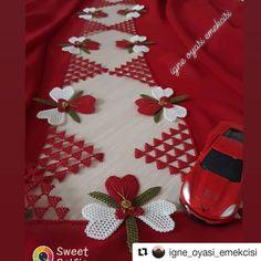 En Şahane İğne Oyası Modelleri Thread Art, Needle And Thread, Crochet Bedspread, Needle Lace, Bargello, Baby Knitting Patterns, Elsa, Diy And Crafts, Hello Kitty
