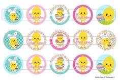 15 lil Chickadee 1 Digital Download for 1 Bottle Caps by MaddieZee, $1.25