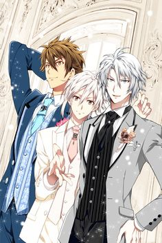 our three guys from trigger, looking classy Hot Anime Boy, Anime Boys, Manga Boy, Manga Anime, Anime Art, Black Butler Characters, Anime Characters, Vocaloid, Handsome Anime Guys
