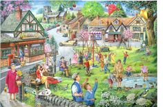 House of Puzzles Spring Green 1000 Piece Jigsaw Complete for sale online Puzzle Art, Puzzle 1000, Free Online Jigsaw Puzzles, 1000 Piece Jigsaw Puzzles, Mind Puzzles, Hidden Pictures, Picture Description, Spring Green, Christmas Art