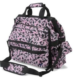 "Nurse Mates Ultimate Nursing Bag in Pink Ribbon print - Measures 13"" x 9"" x 14"" #Nursing_Bag 