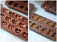 How to make homemade chocolates - Miam ! Praline Chocolate, Bakers Chocolate, Artisan Chocolate, Best Chocolate, Chocolate Candy Recipes, Chocolate Candy Molds, Easy Cookie Recipes, Cake Recipes, Dessert Recipes