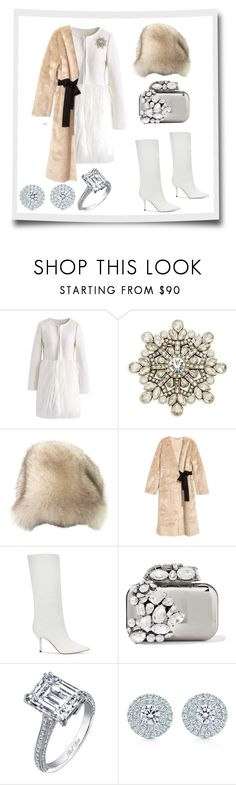 """""""Winter Wonderland"""" by miracle-child-1 ❤ liked on Polyvore featuring Chicwish, Heidi Daus, Paul Andrew, Jimmy Choo and Tiffany & Co."""