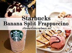 Queeen love this like ice cream in coffee starbucks banana split frappuccino Frappuccino Recipe, Starbucks Frappuccino, Starbucks Smoothie, Starbucks Hacks, Banana Split, Yummy Treats, Yummy Food, Tasty, Starbucks Secret Menu Drinks