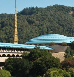 Marin County Civic Center (San Rafael - California). Designed by Frank Lloyd Wright in 1957. Wright died while it was underway.