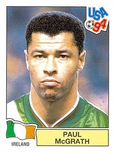 Paul McGrath of the Republic of Ireland. 1994 World Cup Finals card.