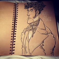 chris_riddell Brown paper sketchbook.