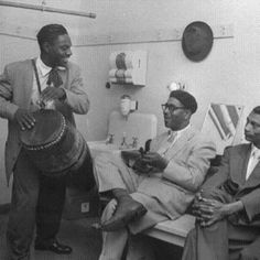 Dizzy Gillespie & Cuban percussionist Chano  Loved that Caribbean/Latin percussion influence on Jazz