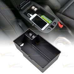Car CENTER CONSOLE Armrest Storage Secondary Glove Box For 2015-16 Jeep Renegade…