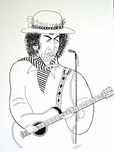 Drawing of a guitar player by Irvin Goldman. Bob Dylan, Behance, Fan Art, Drawings, Bobby, Statues, Guitar, Pictures, Painting