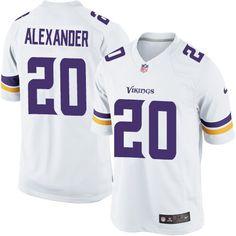 Men's Nike Minnesota Vikings #20 Mackensie Alexander Limited White NFL Jersey