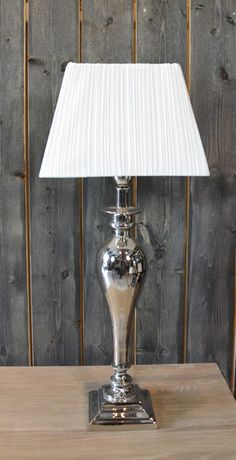 LAMP NICKEL PLATED 51CM