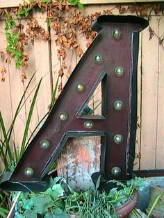 Letter A and a whole lot more! Light Up marquee sign. Shine On! Bread Shop, Let It Shine, Marquee Sign, Do It Yourself Crafts, Metal Letters, Daily Bread, Sign Language, Backyard Ideas, Light Up