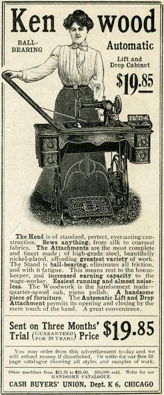 vintage sewing machine ad - Google-søk