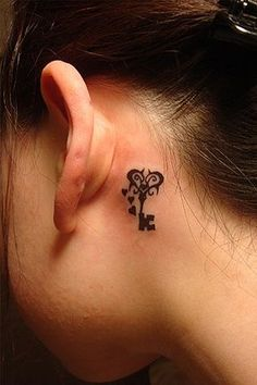 Key and Heart Tattoo  love this!!!!  on foot or wrist though....