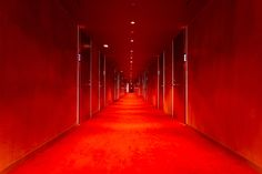 Photograph Red corridor by Laurent André on 500px