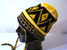 Pittsburgh Steelers ear flap hat design