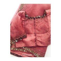 Top Stylish Trendy Beautiful Sari Blouse Designs - The Handmade Crafts Simple Blouse Designs, Stylish Blouse Design, Saree Blouse Neck Designs, Bridal Blouse Designs, Blouse Patterns, Netted Blouse Designs, Simple Designs, Work Blouse, Embroidery
