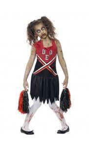 Enge Kostuums Halloween.Zombie Cheerleader Kostuum Rood Zwart In 2019 Zombie