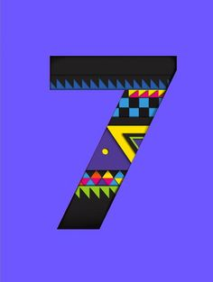 ☆ Seven: Related to lunar energy, connected to the moon, femininity, and workings related to intuition and wisdom. Thought forms and consciousness are represented by the number seven. «Image Art By: Onemilliontee» Magic in the Numbers :¦: By Patti Wigington ☆