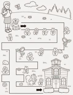 Crafts,Actvities and Worksheets for Preschool,Toddler and Kindergarten.Lots of worksheets and coloring pages. Free Preschool, Preschool Learning, Preschool Printables, Kindergarten Worksheets, Preschool Activities, Mazes For Kids Printable, Free Printable, Maze Worksheet, Coloring Pages