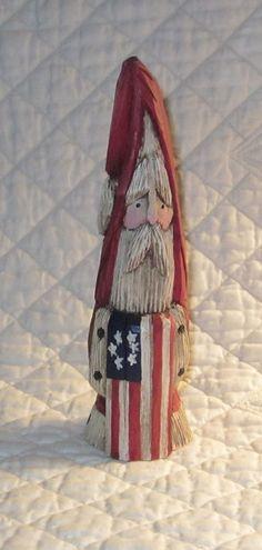 Hand Carved Victorian Santa