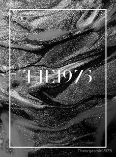 the 1975 logo with pretty background