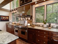 Amazing modern and rustic kitchen design 082S-0004 | House Plans and More