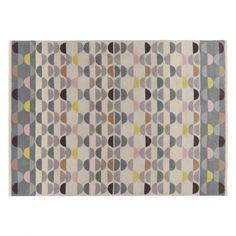 ODEON Large multi-coloured wool rug 170 x 240cm