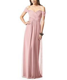 DescriptionDessy Collection 2844Fulllength bridesmaid dressOff the shoulder sweetheart necklineCrisscross ruched bodiceShirred skirtLux chiffon