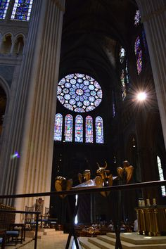 A rose window in Chartres Cathedral