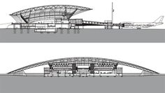 Carrasco International Airport, New Terminal Auditorium Architecture, Roof Architecture, Futuristic Architecture, Architecture Details, Steel Structure Buildings, Building Structure, Modern Buildings, Airport Design, Architecture Concept Drawings