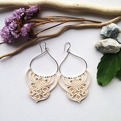 A personal favorite from my Etsy shop https://www.etsy.com/listing/553895617/sterling-silver-macrame-earrings-diy