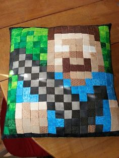 Minecraft Herobrine Pixel Pillow Cover by PixeledPillows on Etsy