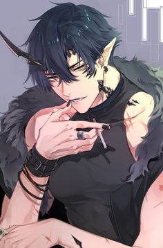 Anime Demon Boy, Dark Anime Guys, Cool Anime Guys, Hot Anime Boy, Handsome Anime Guys, Anime Wolf, Cute Anime Pics, Cartoon As Anime, Chica Anime Manga