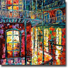 New Orleans Painting Palette Knife Oil Painting by bsasik on Etsy, $598.00