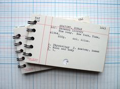 Recycled Library Card Catalog Notebook -- Upcycled, Recycled Journal, Mixed Paper