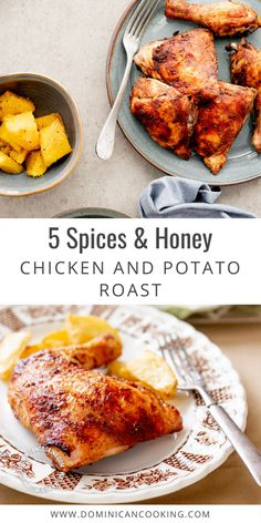 Most people like it, but what will make this 5 Spices and Honey Chicken and Potato Roast a sure-hit is that not only is it exploding with flavor, it's also very easy to make. #chicken #potato #roastedchicken #dominicanrecipe #dominicancooking #simplebyclara @SimpleByClara | dominicancooking.com