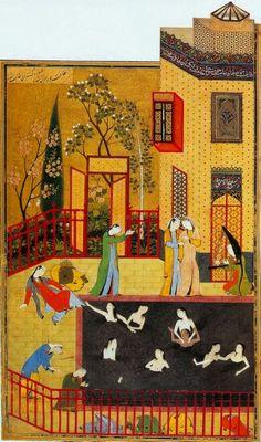 Persian miniature painter..Kamaleddin Behzad  کمالالدین بهزاد