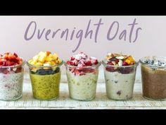 Overnight Oats 5 Ways (video) - Beniaflora Entertainment Coffee Cow, Paleo Carrot Cake, Mochi Cake, Cream Puff Recipe, Chia Recipe, Healthy Vegetable Recipes, Make Banana Bread, Vegan Ice Cream, Cereal Recipes