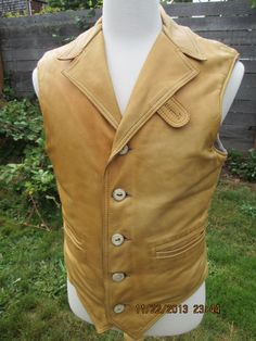 Mens Marlboro tanned leather blanket lined Rancher by Simplemiles, $95.00