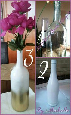 DIY Wine Bottle Upcycle By: Mishelle L. (Me)  Temecula, Ca