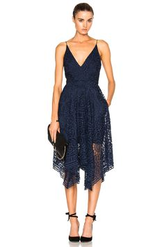 Shadowhunters | NICHOLAS Floral Lace Ball Dress in Navy