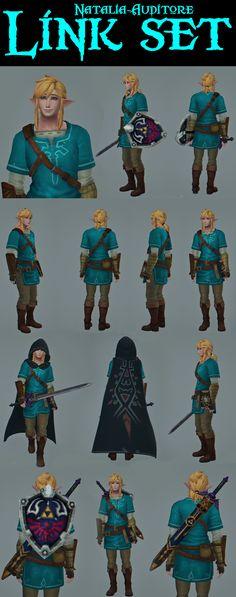 Link Set Sims 4 Cas, Sims Cc, Link Zelda Costume, Link And Zelda Kiss, Zelda Drawing, Sims 4 Challenges, Male Fairy, Zelda Tattoo, Zelda Twilight Princess