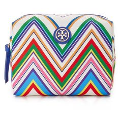 Tory Burch Brigitte Cosmetic Case (€72) ❤ liked on Polyvore featuring beauty products, beauty accessories, bags & cases, zigzag stripe, makeup bag case, dop kit, travel bag, toiletry kits and travel kit