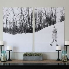 split photo wall art for less than $10 using your own photography!