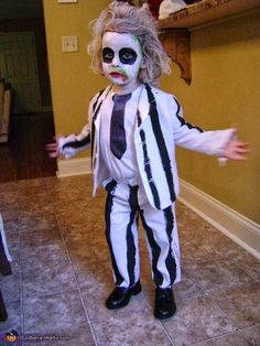 Toddler Beetlejuice Costume -- how hilarious is this?!